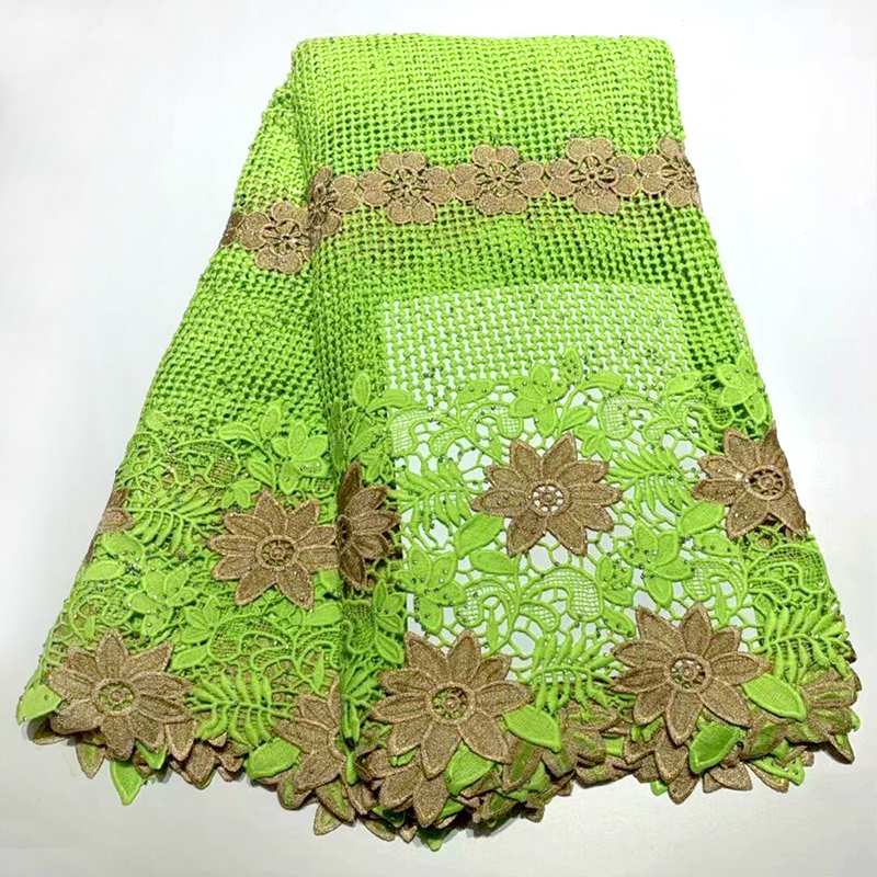 African cord Lace Fabric Hot Sell 2019 New Arrival Lemon green African Cord Lace Guipure Lace Fabrics High QualityAfrican cord Lace Fabric Hot Sell 2019 New Arrival Lemon green African Cord Lace Guipure Lace Fabrics High Quality