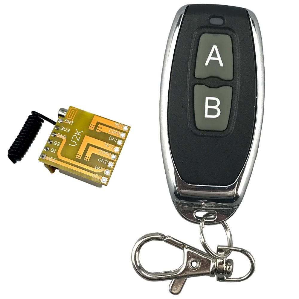 2CH реле беспроводной пульт дистанционного управления 433 МГц RF мини маленький 3,7 В 5 в 6 в 9 в 12 В мгновенный модуль контроллера, триггер Кнопка с...