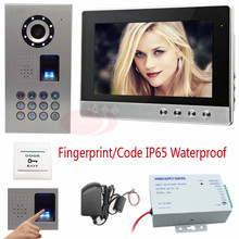 10″ Color Screen Intercom Video IP65 Waterproof HD Sony CCD Camera Intercom Video Phone Fingerprint Recognition/Password Unlock