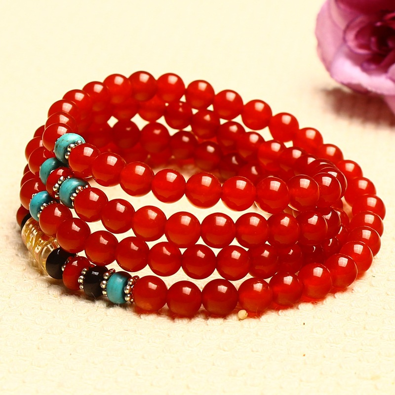 Իրական բնական կարմիր ագատ ապարանջան - Նուրբ զարդեր - Լուսանկար 2