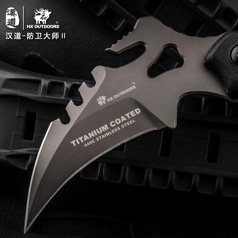 HX OUTDOORS CS go karambit gynybos meistras D2 Karambit peilis, - Rankiniai įrankiai - Nuotrauka 3