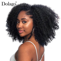 Brazilian Afro Kinky Curly Hair Weave 4B 4C 100% Natural Virgin Human Hair Bundles Extension 3B 3C Dolago Hair Products