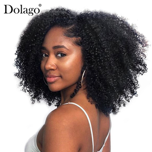 Image 5 - Brazilian Afro Kinky Curly Hair Weave 100% Natural Remy Human Hair Bundles Extension 3B 3C Dolago Hair Products
