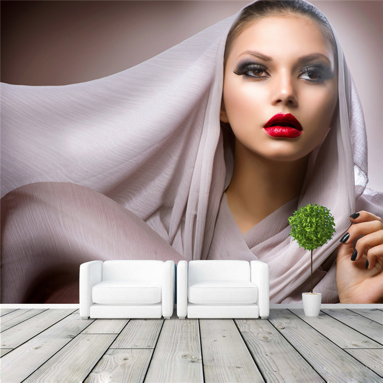 beautiful woman photo wallpaper fashion wall mural customize wallpaper home decor beauty shop kid bedroom sofa