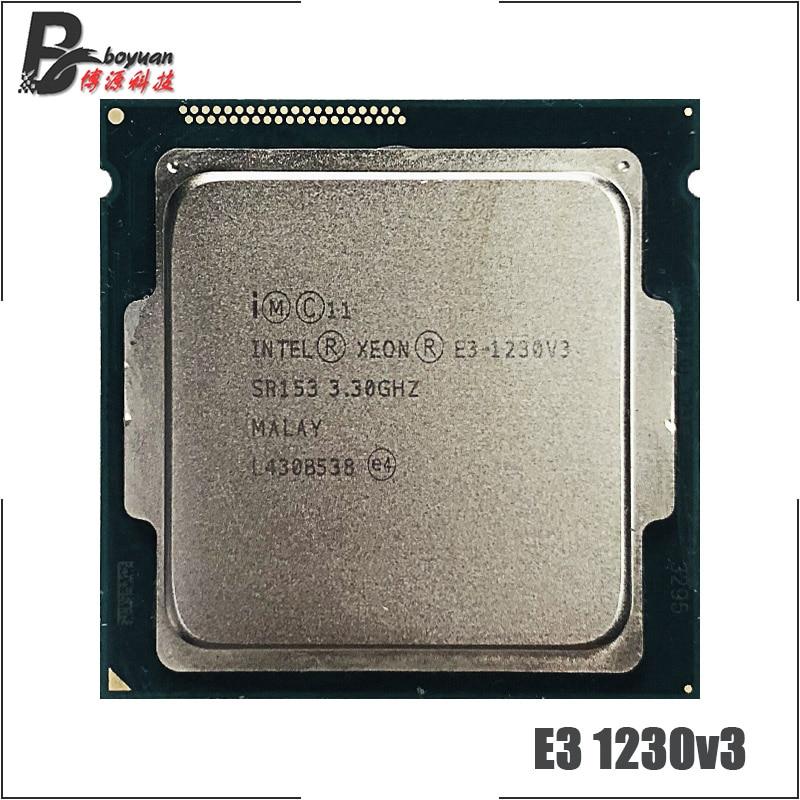 Intel Xeon E3 1230 V3 E3 1230 V3 E3 1230V3 3 3 GHz Quad Core CPU