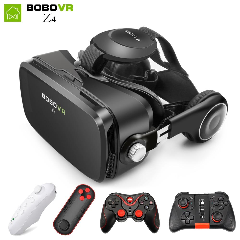 Caixa BOBOVR Z4 mini VR 2.0 óculos 3d óculos de Realidade Virtual Google papelão bobo vr vr z4 smartphones fone de ouvido para 4.3-6.0 polegada
