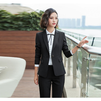 New fashion temperament ladies suit two-piece suit (jacket + pants ) ladies business formal wear support custom