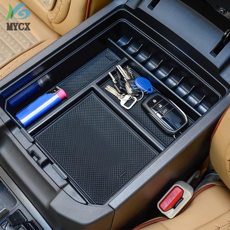 2010 2017 2019 Car Interior Non Slip Stowing Tidying Box For Toyota Land Cruiser Prado FJ