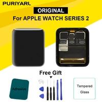 OEM Экран для Apple Watch Series 2 ЖК-дисплей Дисплей Сенсорный экран планшета серии 2 S2 38 мм/42 мм Pantalla Замена + Бесплатный подарок