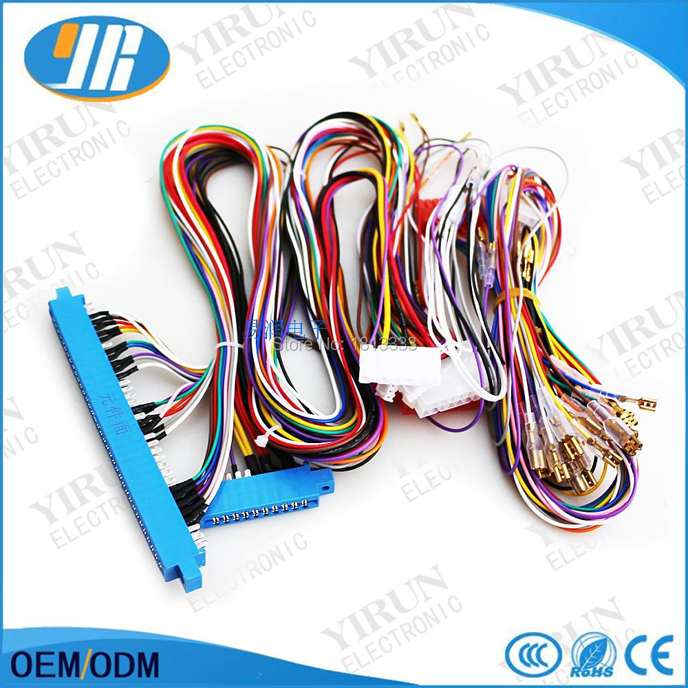 hight resolution of 1pcs free shipping 10pin 36pin jamma harness wire for water margin arcade red board casino mega games machine in coin operated games from sports