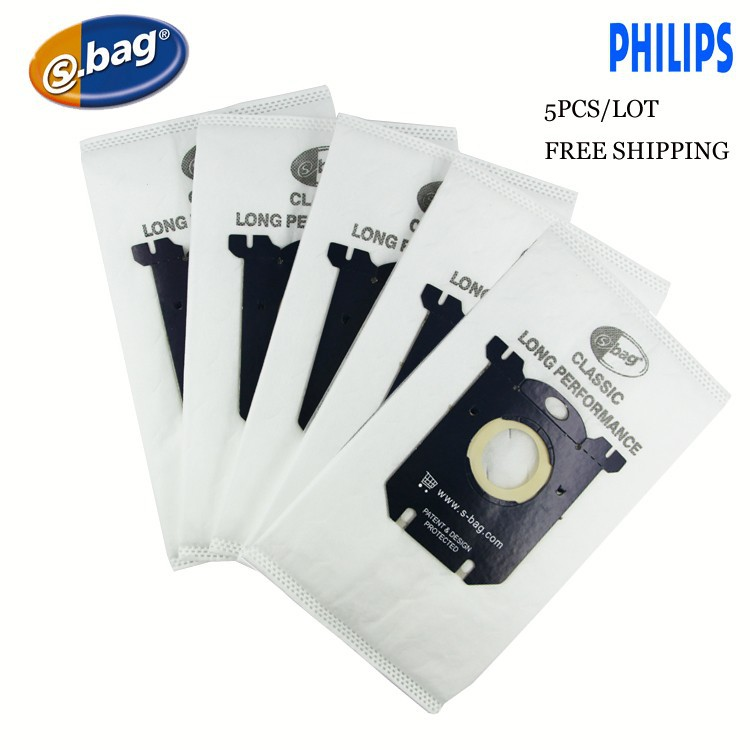 цена 5-Piece/LOT S-bag Sbag dust bag For Philips FC8021 Electrolux E201B 203B 206B Dust S-bag GR201 Volta Tornado AEG Zanussi