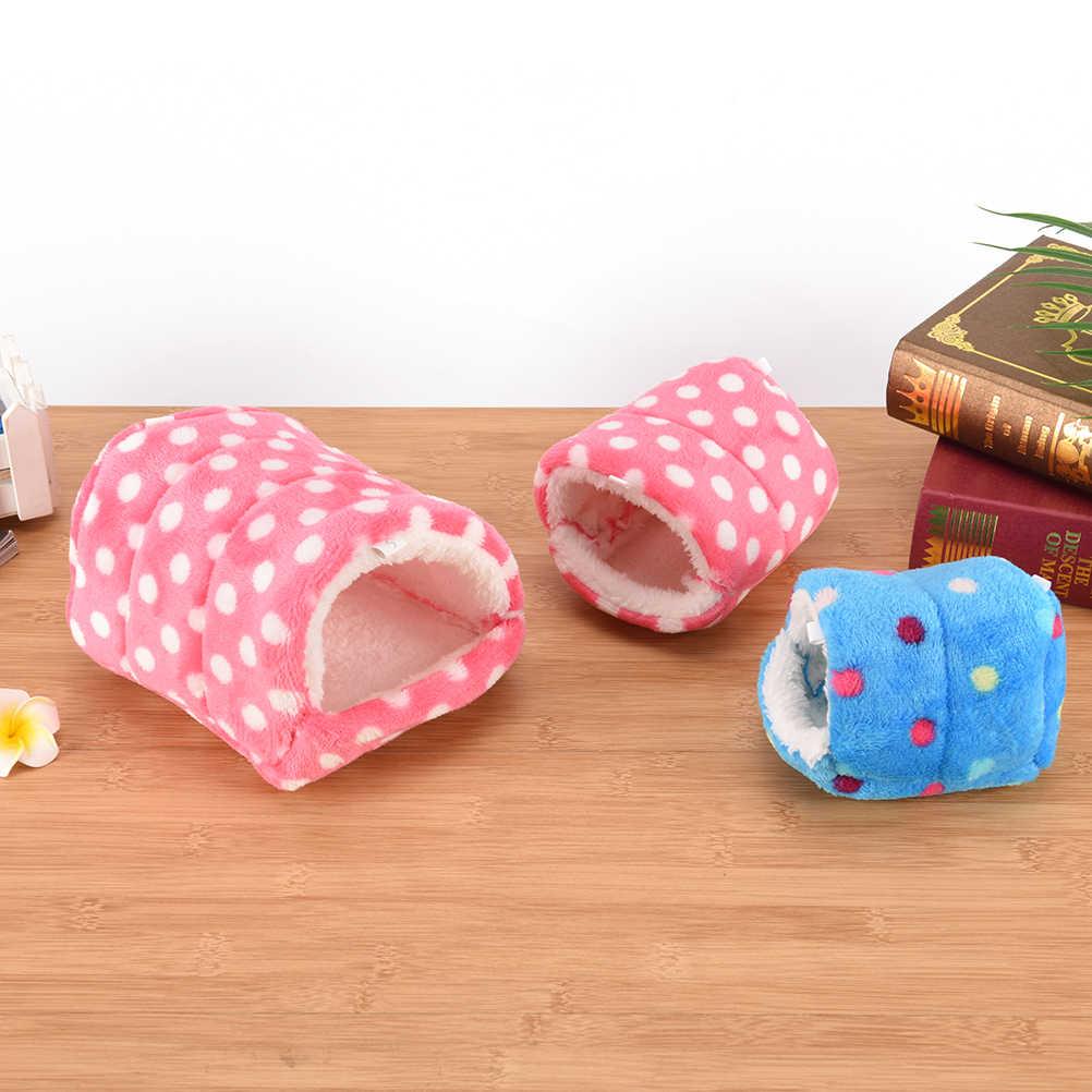 미니 동물 햄스터 침대 코튼 애완 동물 둥지 기니 돼지 다람쥐 침대 둥지 햄스터 하우스 케이지 액세서리 S/M/L 크기