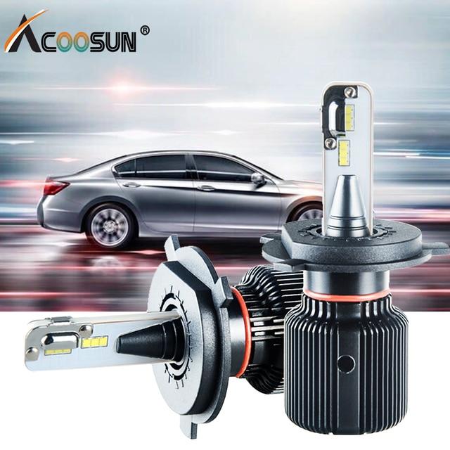 Led H4 H7 Car Headlight Fanless Bulbs H8 H9 H1 H13 9004 9007 12V Auto lamp  6500K  8000Lm PSX24W PSX26W Led Fog Lamp Canbus Bulb