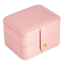 Women's Mini Stud Earrings Rings Jewelry Box Useful Makeup Organizer Travel Portable Jewelry Box PU Leather Display Storage Case europe style creative travel portable jewelry box earrings jewelry receiving box pu storage organizer double deck removable box
