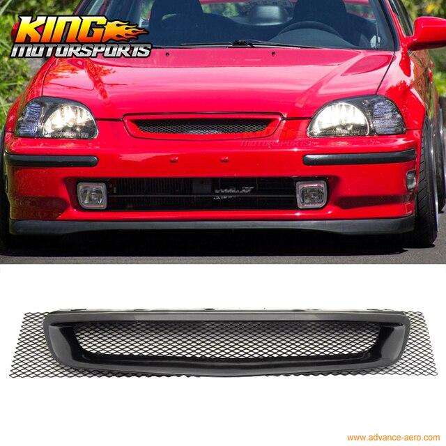 For 96 97 98 Honda Civic DX LX EX EK T R Front Mesh Black Hood Grille