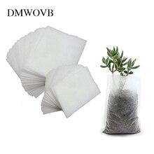 DMWOVB различных размеров Жардин биоразлагаемые мешки для питомника растение сумки нетканые ткани горшки для рассады садовые посадочные сумки