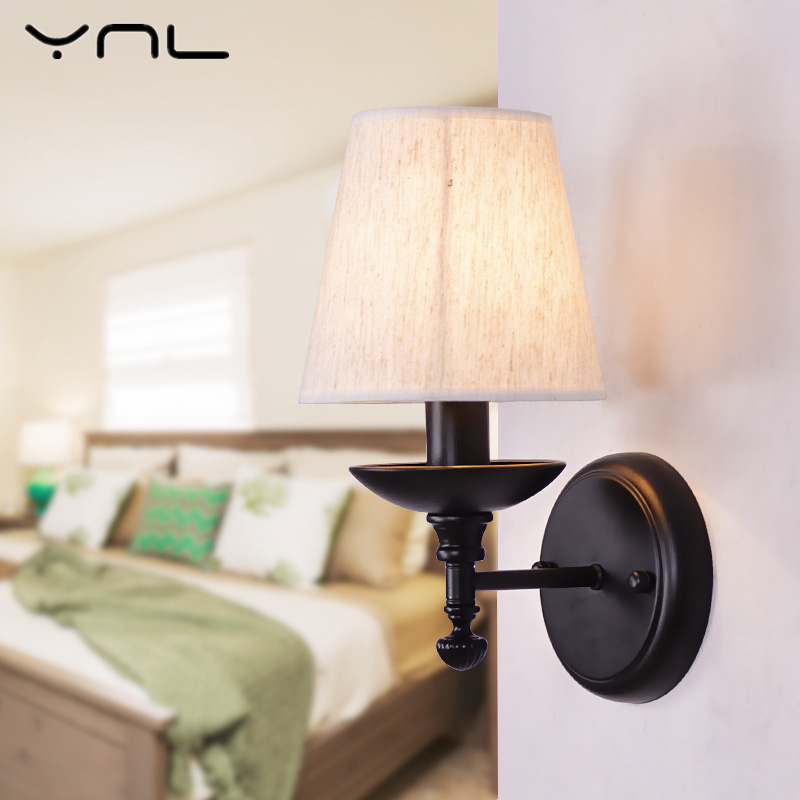 American Country Modern Vintage Wall Lamp Bedside Lamps Wall Lights Stair Lighting for Bedroom Home Decor E14 Holder Lighting