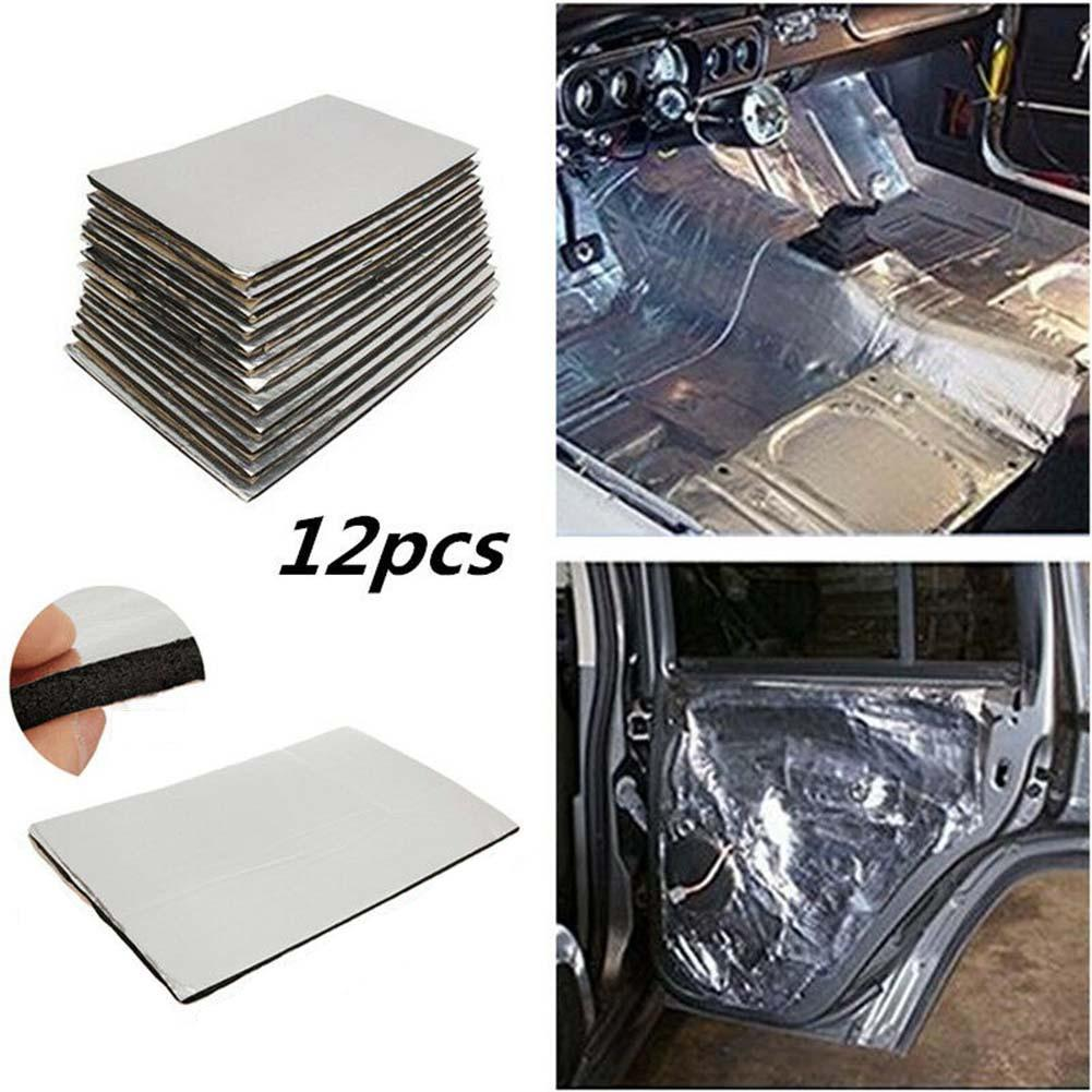 12 Pcs/Set Car Universal Firewall Sound Batts Deadener Heat Insulation Mat  Pad