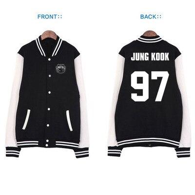 kpop BTS Hoodies Bangtan Boys k pop same paragraph baseball uniform baseball uniform jacket couple BTS k-pop EXO Sweatshirts