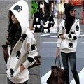 AS-024 new Women casual loose wear hooded skull zipper sweatshirt skeleton coat top Outwear hoodie Free Shipping