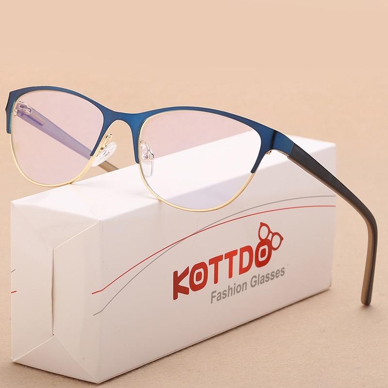 KOTTDO Nouvelle Mode Hommes Cat Eye Lunettes Cadres pour Femmes Myopie Optique Vintage Affaires Lunettes Transparent Lunettes Oculos