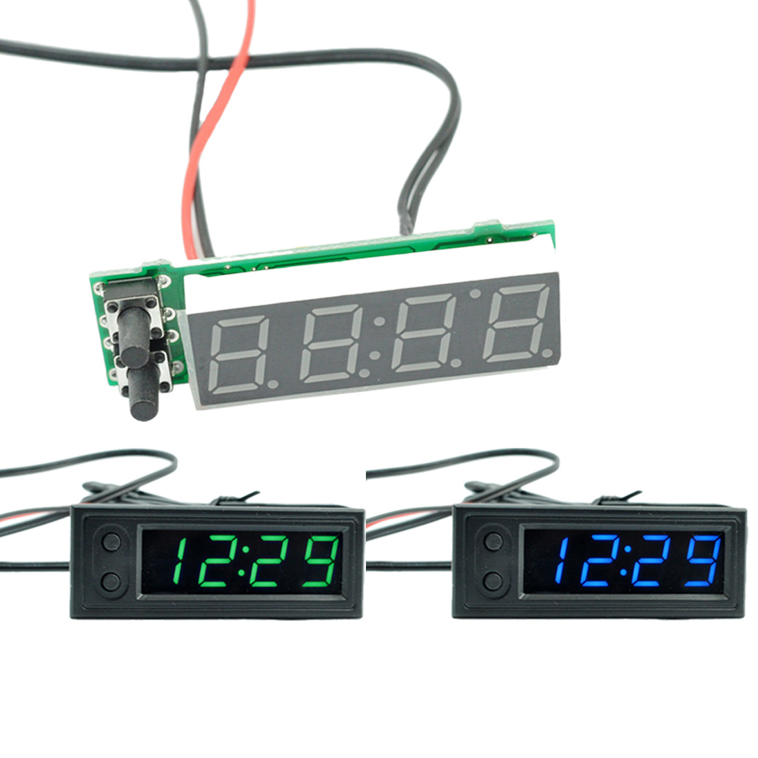 Car Temperature Battery Voltage Monitor Panel Meter DC 12V Clock Inside and Outside High-precision Multifunction Car Temperature Battery Voltage Monitor Panel Meter DC 12V Clock Inside and Outside High-precision Multifunction