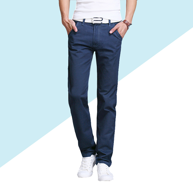Spring Summer Classic Straight   jeans   Thin 2019 men's fashion   jeans   Long Pants Trousers clothes new fashion brand