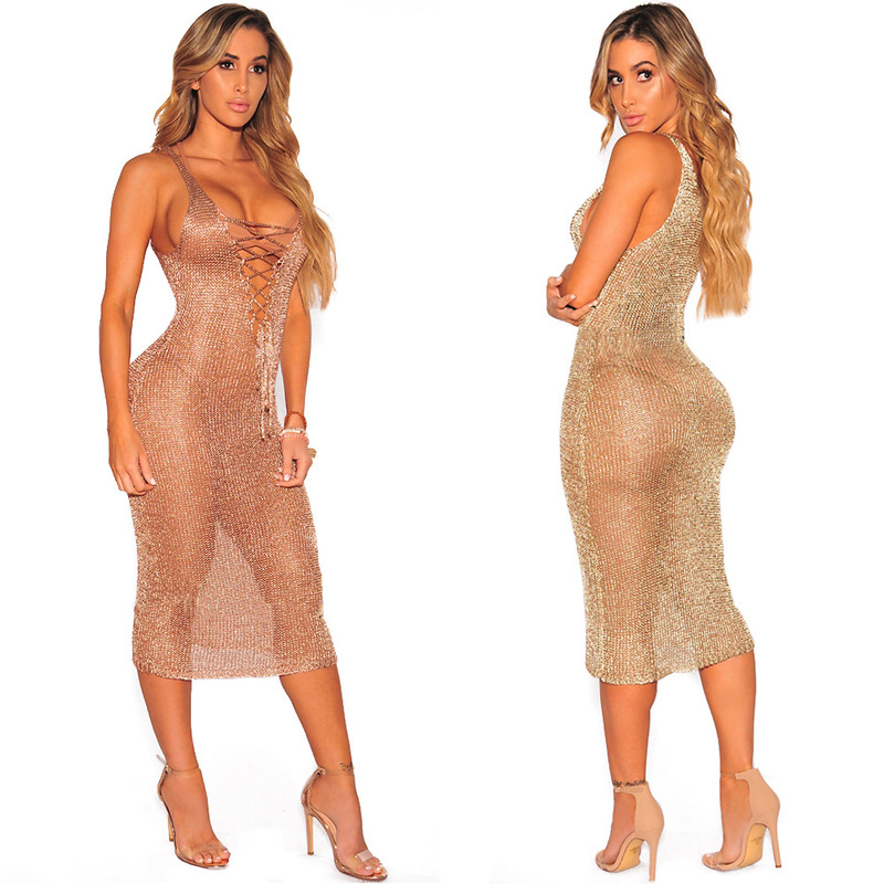 Beach Dress For Women Swimming Suit Woman Cover Up Summer Swimsuits 2019 Pareo New <font><b>Rose</b></font> <font><b>Gold</b></font> Knitting <font><b>Skirt</b></font> Lace Acrylic Solid image