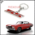 (1) Chrome Finish Super Sport SS Key Chain Fob Ring Keychain For Chevrolet Chevy