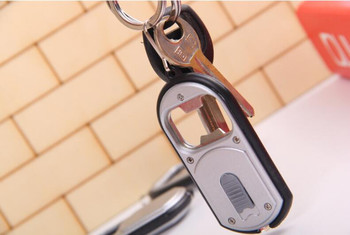 3-in-1 Beer Bottle Opener LED Light Lamp Camping Key Chain Keyring Keychain 100 piece free shipping