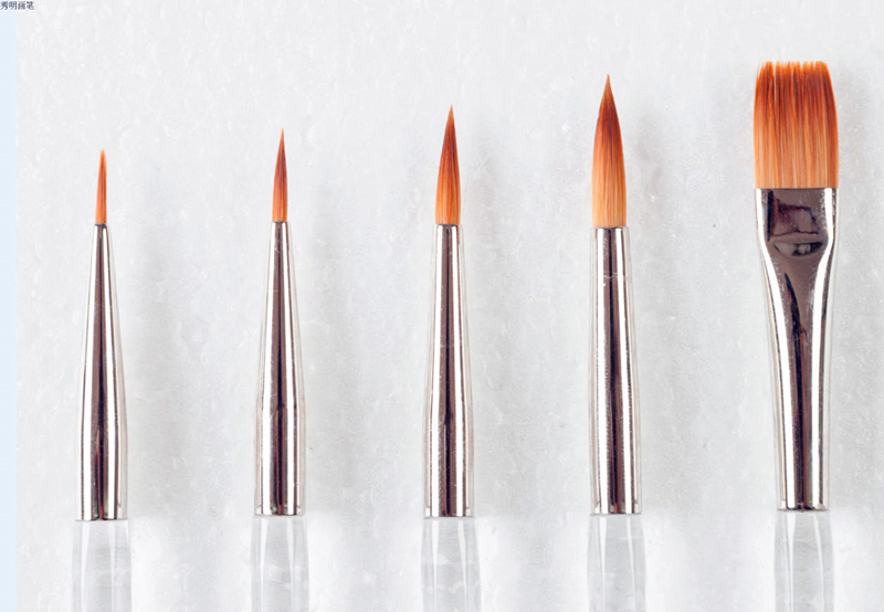 High Quality 5PC/Set South Korea Golden Taklon Hair Plastic Handle Watercolor Paint Art Supplies Brush