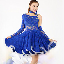 Latin Dance Skirt Blue/Yellow/Green Lady Dress For Modern Dancing Latin Dance Dresses Tango/Cha cha/Rumba Competition Dress