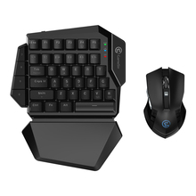 GameSir Z2 игровой Беспроводной клавиатуры и Мышь комбо 2,4 ГГц (с помощью одной руки) механическая клавиатура с 4 силиконовые ключи