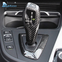 Airspeed Carbon Fiber Car Gearshift Knob Covers for BMW F20 F30 F31 F34 3GT X3 F25 X4 F26 X5 F15 X6 F16 Accessories Car Styling