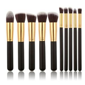 Image 3 - Nieuwe Komen 10 stks Synthetische Kabuki Make Up Borstel Set Cosmetics Foundation mengen blush make up tool