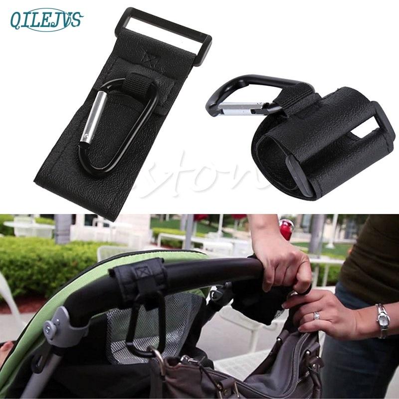2Pcs Baby Trendy Pushchair Stroller Clip Hooks Buggy Pram Diaper Bag Hanger #330