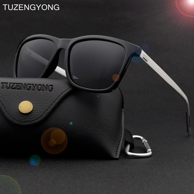 TUZENGYONG Brand Unisex Retro Aluminum+TR90 Sunglasses Polarized Vintage Eyewear Accessories Sun Glasses For Men/Women T6108