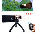 2017 Phone Lentes Kit 17x Telephoto Telescope Lenses Optical Zoom Lens For For Samsung Galaxy S3 S4 S5 S6 S7 iPhone Cases Tripod