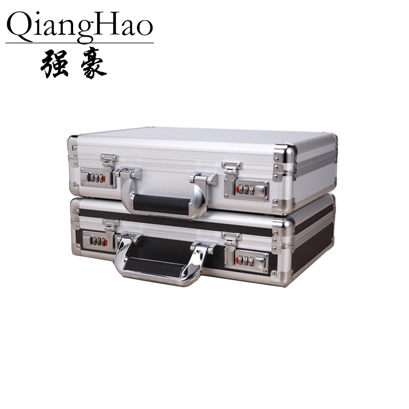 Storage-Box Toolbox Document Aluminum-Alloy Household Portable With Lock Trumpet 360--250--100mm