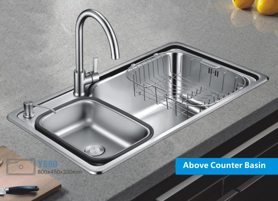 Oversize 304 Stainless Steel Kitchen Sink Increase Thickness Single Basin Washing Dishes Container For Washing Dishes High In Kitchen Sinks From Home