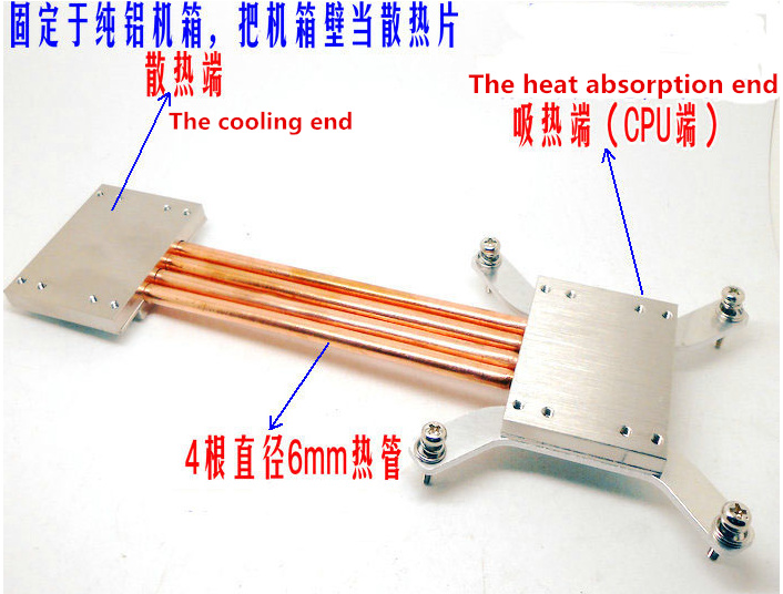 Free Ship 1155 1150 220mm Heat Pipe Radiator DIY kits Coordinate With all aluminum chassis Build mute computer CPU radiator evga 5 heat pipe radiator can diy gtx670 gtx680 gtx780 etc pitch 58 58mm