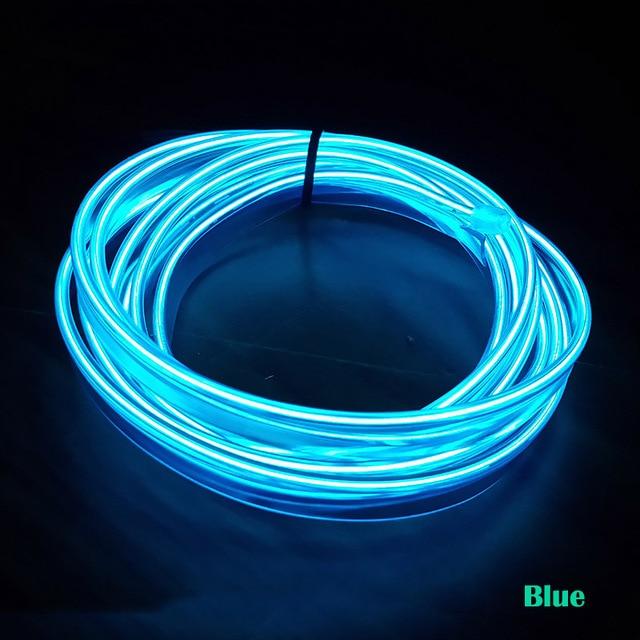 EL Koude Draad Flexibele 3 M Neon Interieur refit licht vastklemmen ...