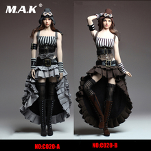 1/6 Scale Female Steam Punk dress Sexy Female Clothes Set woman dress suitable for PH big breast action Figures body 1 6 scale woman dress zy toys zy5024 maid suit sexy female clothes set suitable for ph big breast action figures body