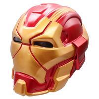Top Quality Anime Avengers Endgame Iron Man Cosplay Masks Tony Stark Kids Adult PVC Mask LED Helmet Halloween Party Prop Toy New