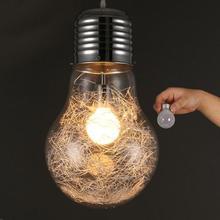Personalidad creativa luces colgantes hierro vidrio gran bombilla Vintage Barra de lámpara ruso almacén grandes lámparas colgantes