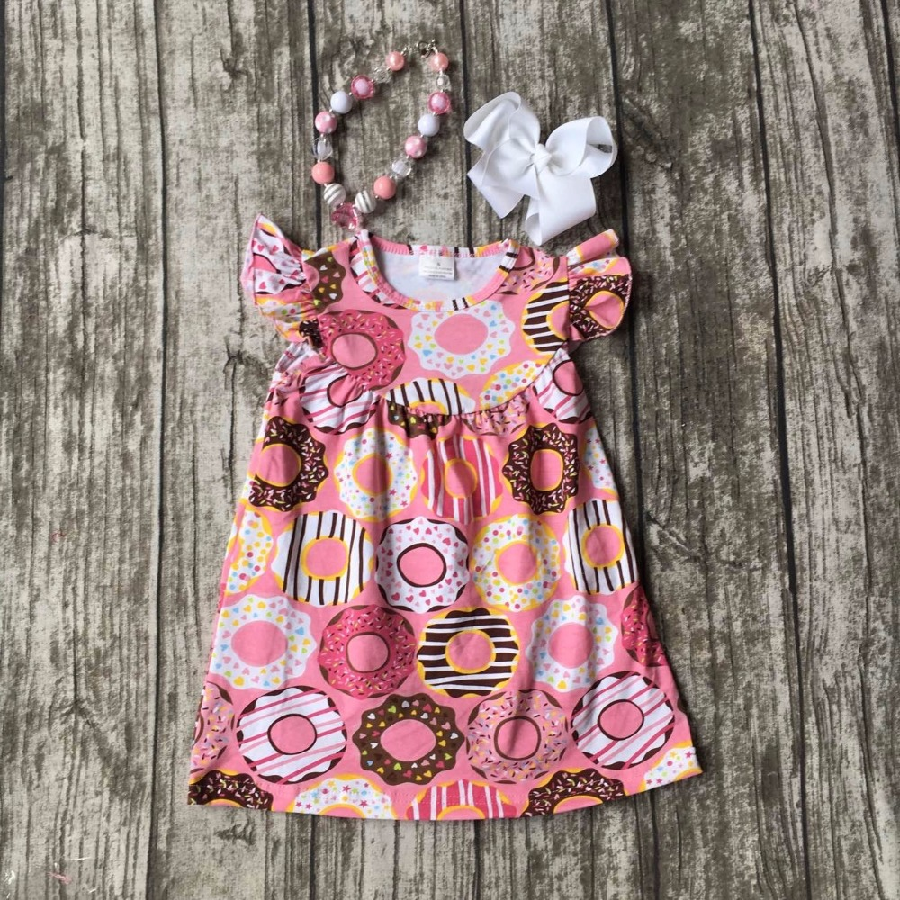 new Summer baby girls outfits dress ruffles Doughnut cotton short boutique clothes kids wear sets cute matching accessories kids clothes girls boutique clothing girls back to school outfits girls summer outfits with matching headband