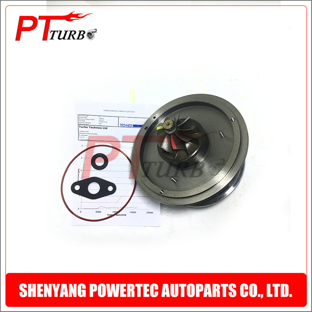 New turbine <font><b>GT1752V</b></font> cartridge core CHRA turbo for BMW 120D E87 M46TU 163 HP 2005- 11657793865 / 11657793866 / 11657798055 image
