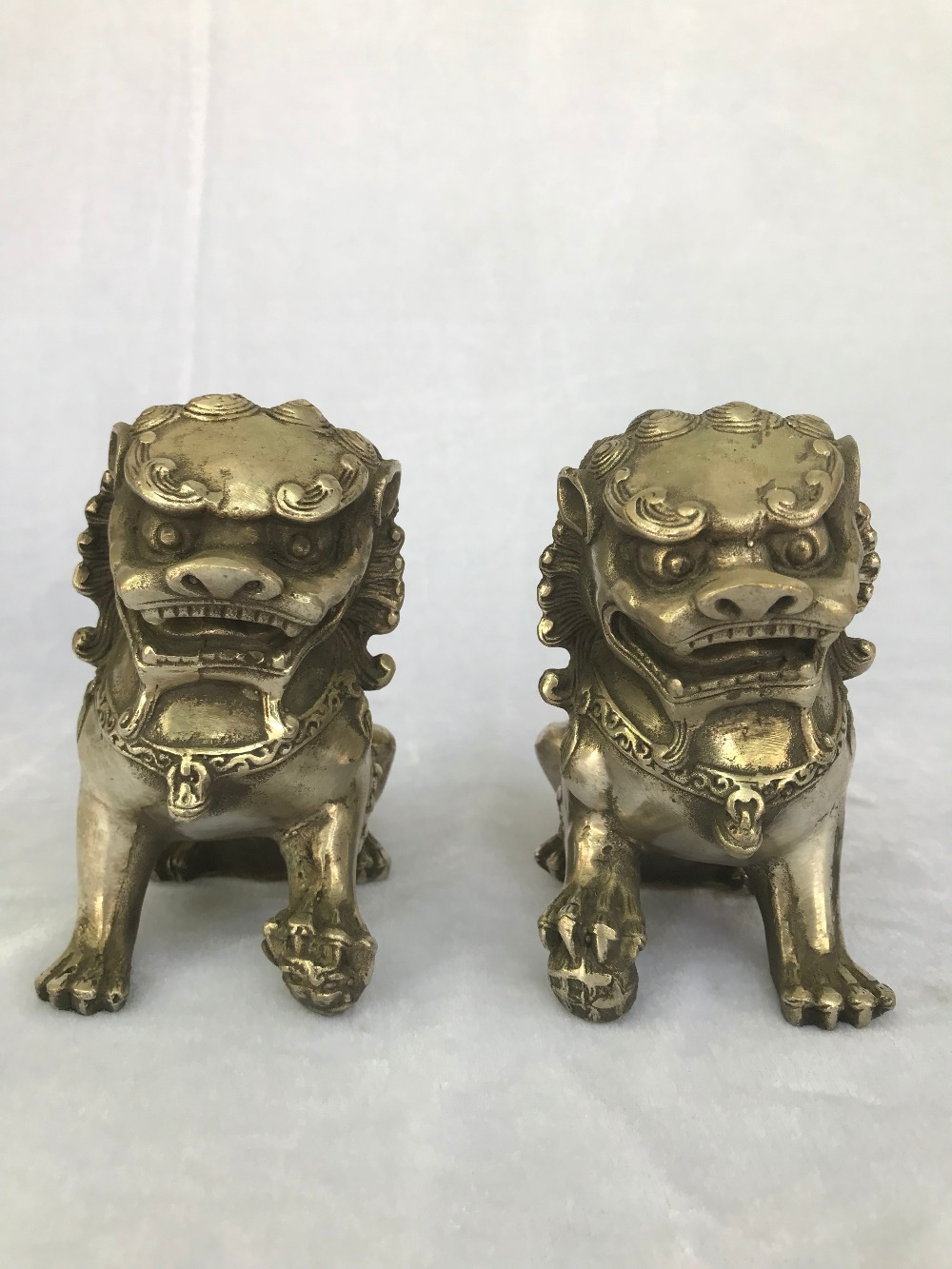 Chinese Copper Statue Lions Pair Might Terrorize Get rid of evilChinese Copper Statue Lions Pair Might Terrorize Get rid of evil