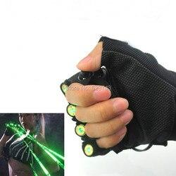 5 زوج/وحدة قفازات الليزر الأحمر الأخضر الرقص المرحلة تظهر ضوء مع 4 قطعة الليزر و LED ضوء النخيل ل DJ ديسكو نادي/حفلة/البارات