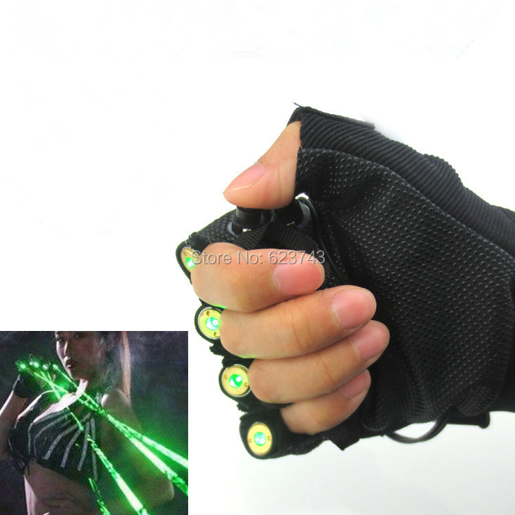 5Pairs/Lot Red Green Laser Gloves Dancing Stage Show Light With 4 pcs lasers and LED palm light for DJ Disco Club/Party/Bars 100 beams multiple beam lasers gloves green 532nm laser module lazer diode dj disco green laser glove event